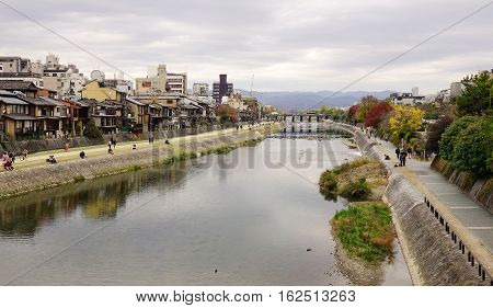 Cityscape In Kyoto, Japan