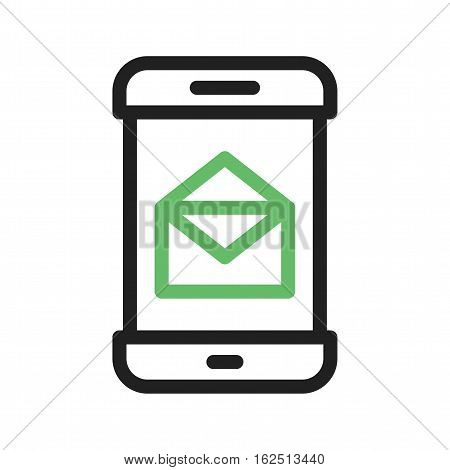 Message, mobile, app icon vector image. Can also be used for smartphone. Suitable for mobile apps, web apps and print media.