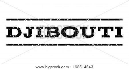 Djibouti watermark stamp. Text caption between horizontal parallel lines with grunge design style. Rubber seal stamp with dust texture. Vector black color ink imprint on a white background.