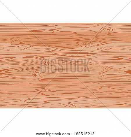 Wood texture with natural pattern top view. Natural light seamless wooden background. Brown wood floor. Vector illustration