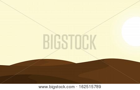 Landscape of desert backgrounds vector collection stock