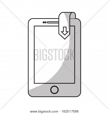 book download and cellphone related icons image vector illustration design