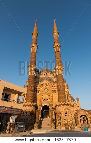 architectural Beautiful Mosque in Sharm El Sheikh