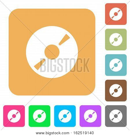 DVD disk icons on rounded square vivid color backgrounds.
