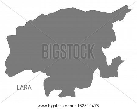 Lara Venezuela Map in grey federal state silhouette illustration