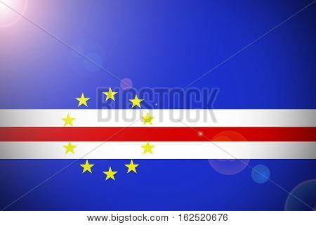 Cape verde flag ,3D Cape verde national flag illustration symbol