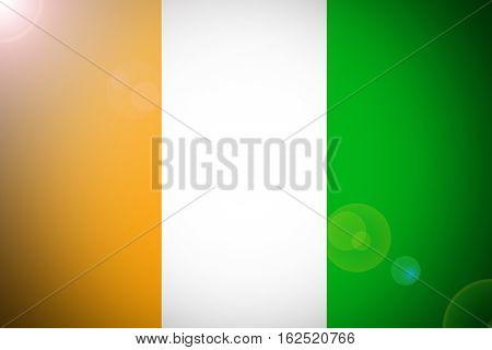 Cote d'ivoire flag ,Original and simple Ivory Coast flag.Nation flag