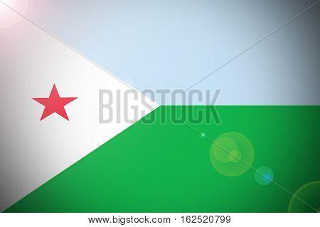 Djibouti flag ,3D Djibouti national flag illustration symbol.