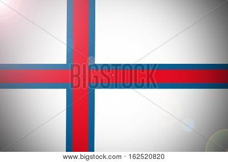 Faroe islnads flag illustration symbol. 3D Faroe islnads flag