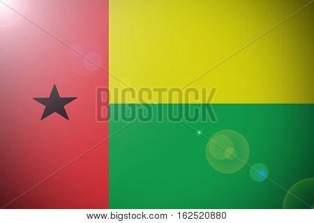 Guinea Bissau national flag illustration symbol .