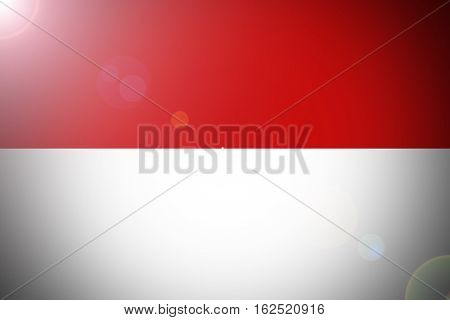INDONESIA flag ,3D Original and simple Indonesia flag