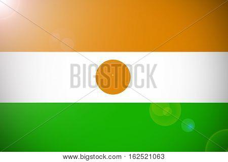 Niger national flag illustration symbol. Niger flag