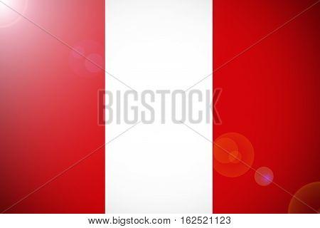 Peru national flag illustration symbol. Peru flag