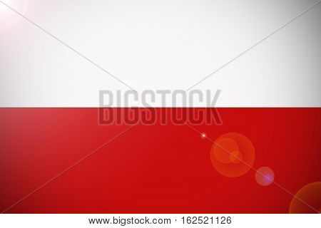 Poland national flag illustration symbol. Poland flag
