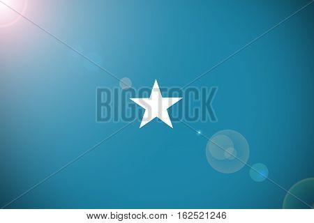 Somalia flag ,3D Somalia national flag illustration symbol