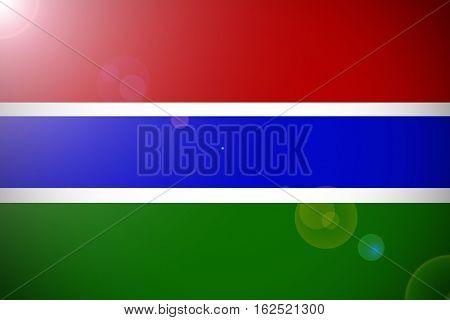 Gambia national flag illustration symbol . Gambia