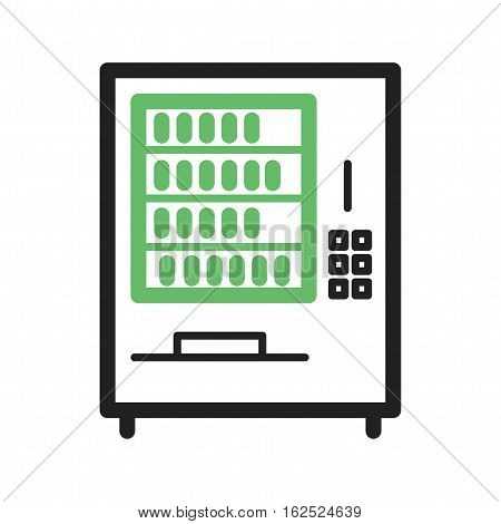 Vending, machine, drink icon vector image.Can also be used for town. Suitable for web apps, mobile apps and print media.