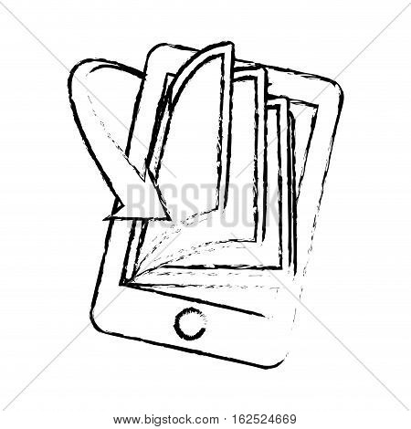 book download and cellphone related icons image vector illustration