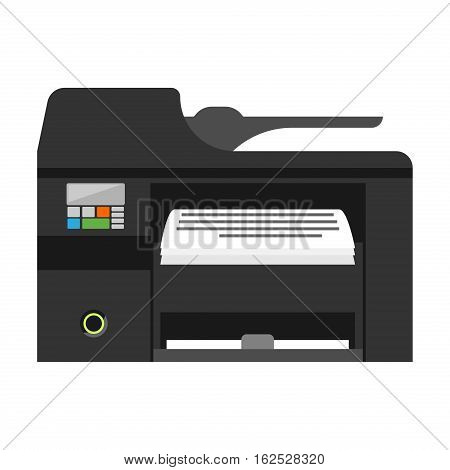 Computer office equipment. Digital business telecommunication workplace. Mobile internet information device. Multimedia technology tool vector illustration.