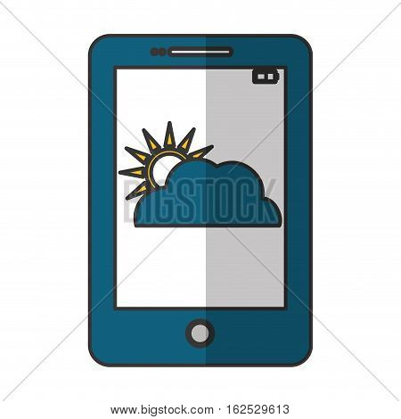 weather forecast on cellphone icon image vector illustration design