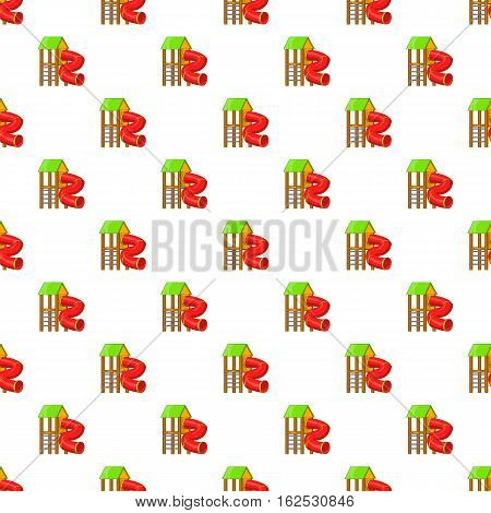 Slide pipe pattern. Cartoon illustration of slide pipe vector pattern for web