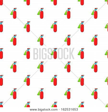 Fire extinguisher pattern. Cartoon illustration of fire extinguisher vector pattern for web