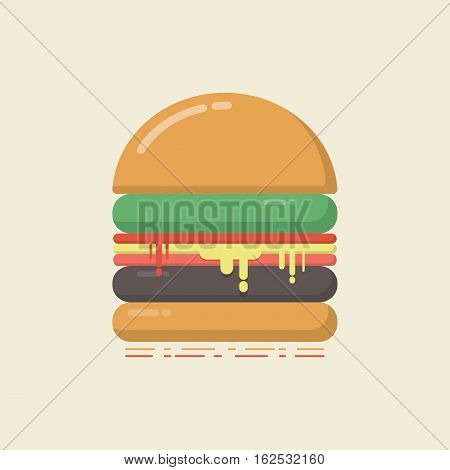 retro hamburger high calories retro vintage style