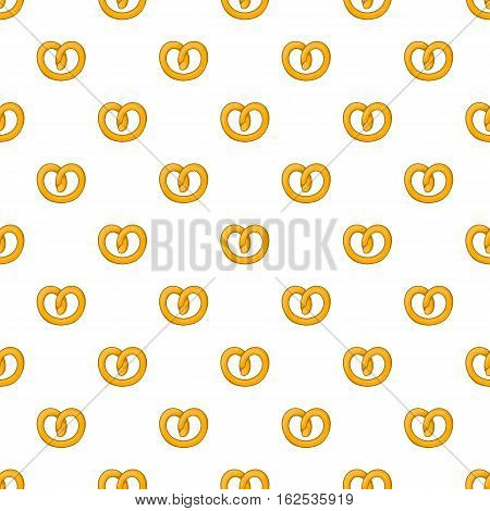 Pretzels pattern. Cartoon illustration of pretzels vector pattern for web