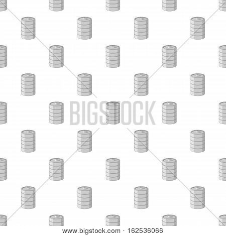 Aluminum barrel for beer pattern. Cartoon illustration of aluminum barrel for beer vector pattern for web