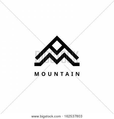 Mountain vector logo template. Travel and Adventure