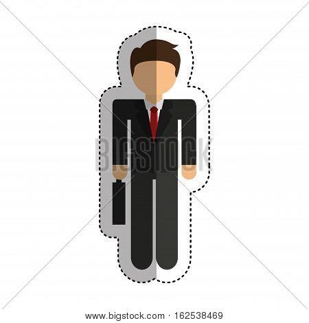 businessman avatar line icon vector illustration design