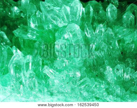 aquamarine gem semigem geode crystals geological mineral isolated
