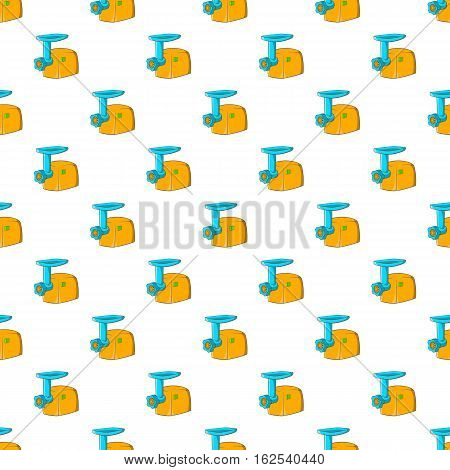 Electric grinder pattern. Cartoon illustration of electric grinder vector pattern for web
