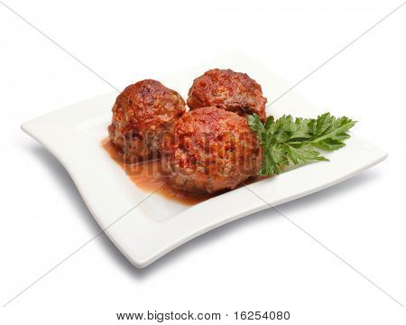 meatball with parsley