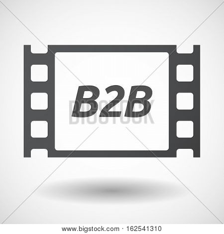 Isolated Frame With    The Text B2B