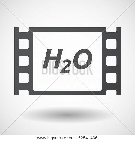 Isolated Frame With    The Text H2O