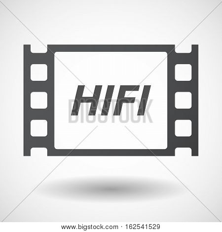 Isolated Frame With    The Text Hifi