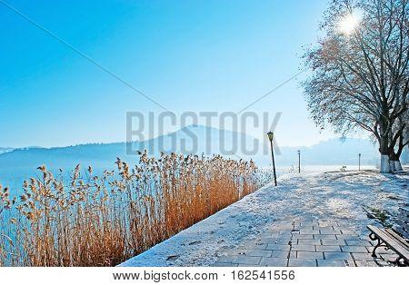 The Winter Promenade In Kastoria