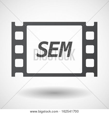 Isolated Frame With    The Text Sem