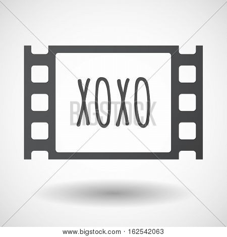 Isolated Frame With    The Text Xoxo
