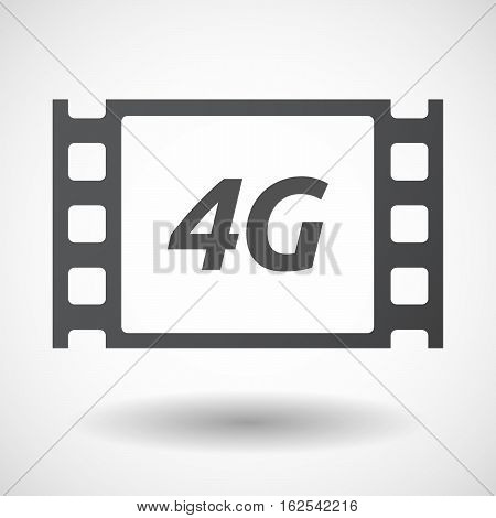 Isolated Frame With    The Text 4G