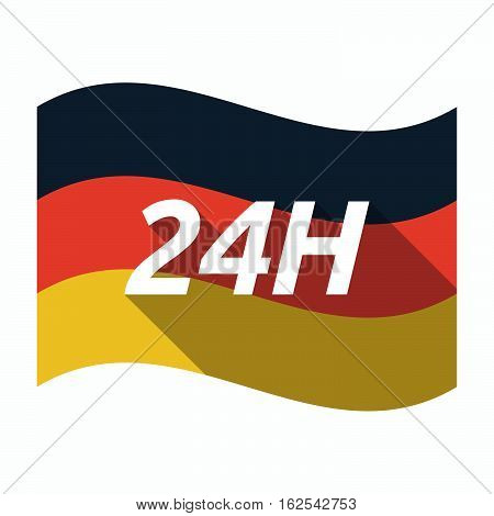 Isolated German Flag With    The Text 24H