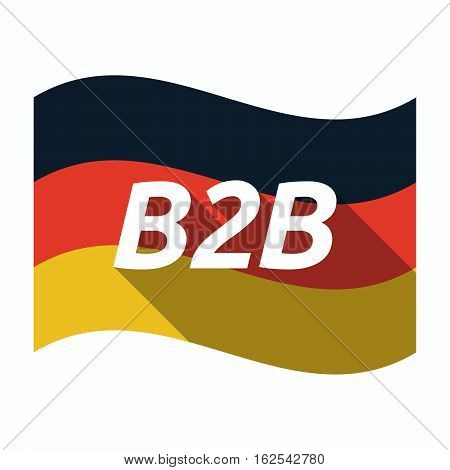 Isolated German Flag With    The Text B2B