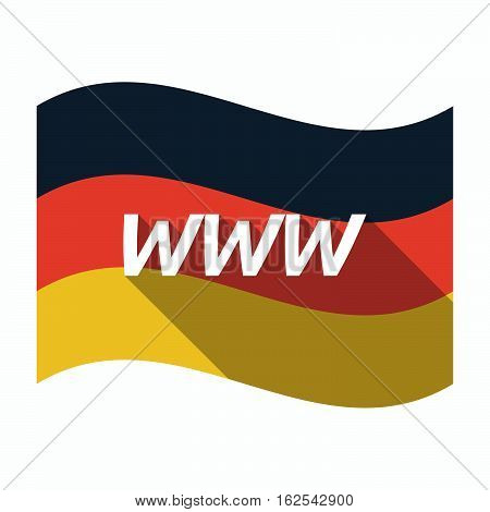 Isolated German Flag With    The Text Www