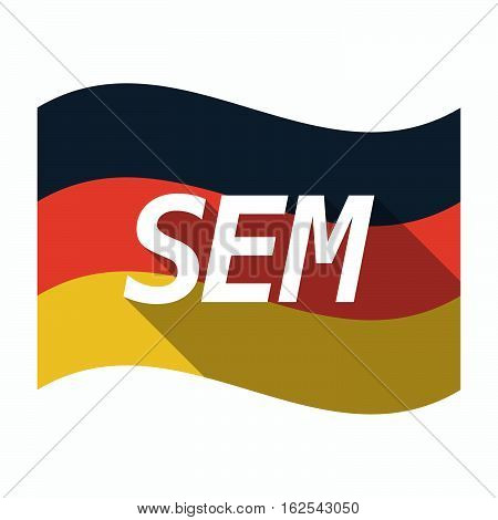 Isolated German Flag With    The Text Sem