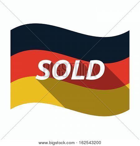 Isolated German Flag With    The Text Sold