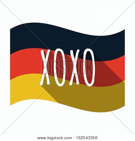Isolated German Flag With    The Text Xoxo