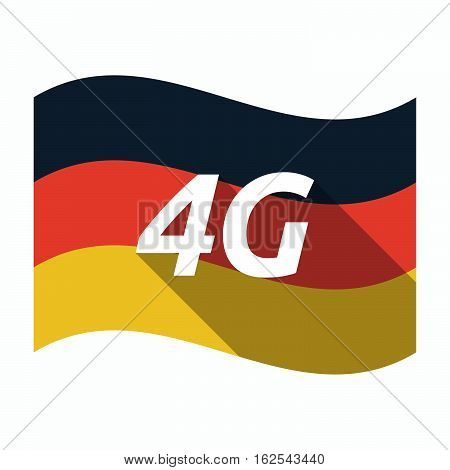 Isolated German Flag With    The Text 4G