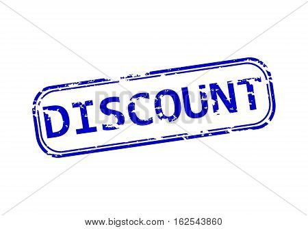 Rubber stamp with the word discount isolated from the background, vector illustration.