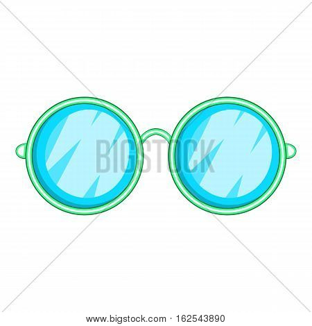 Goggles icon. Cartoon illustration of goggles vector icon for web design